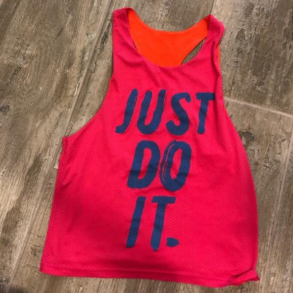 Nike Tops - NIKE Reversibke Jersey Tank Orange/Pink/Blue